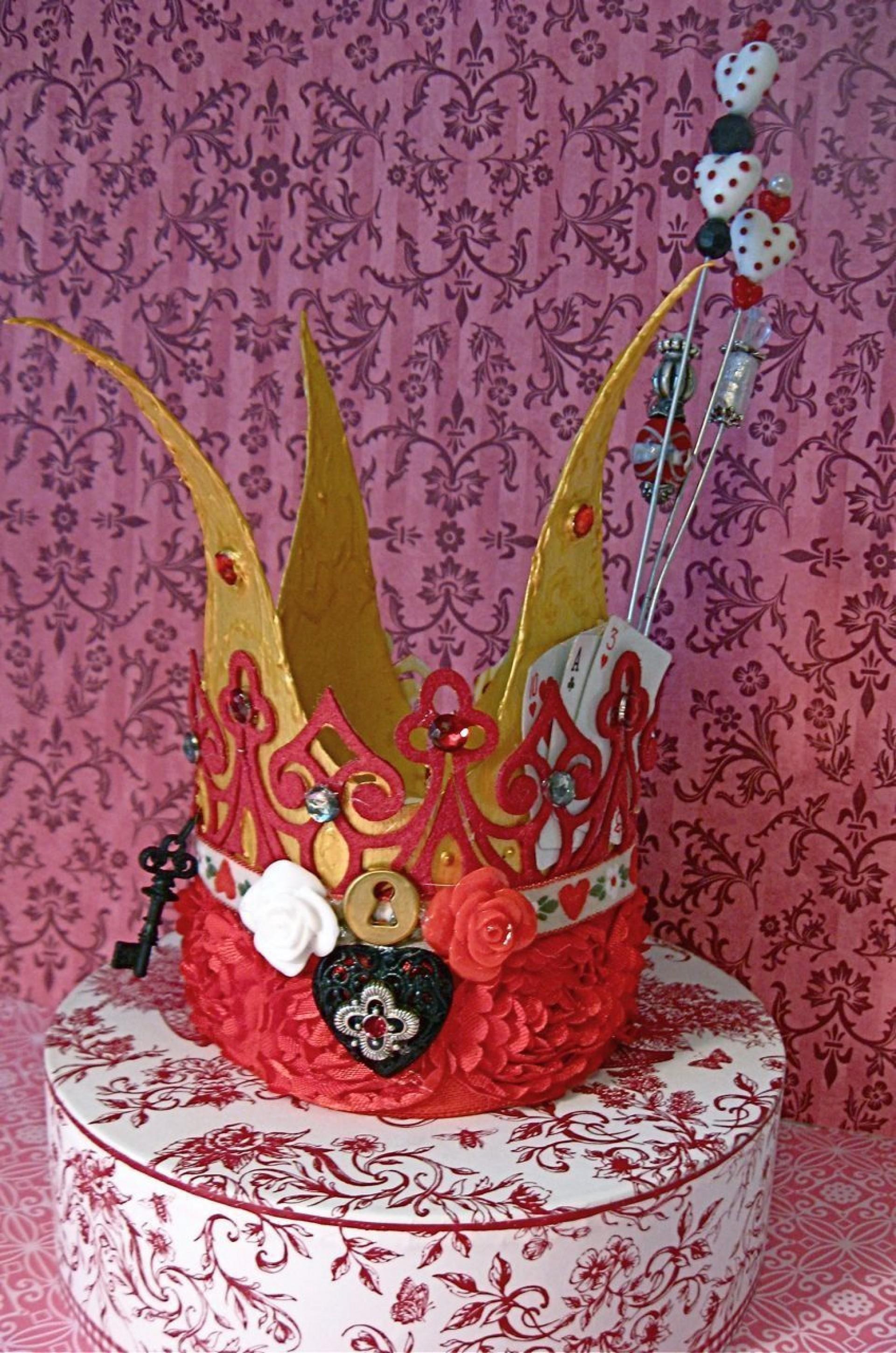 000 Stirring Queen Of Heart Crown Pattern Photo  Printable Template Headband Diy1920