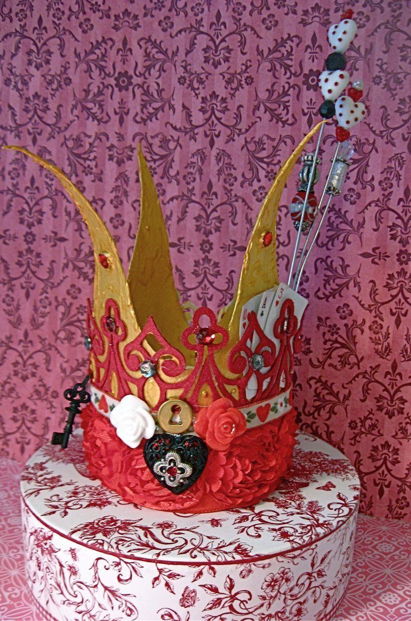 000 Stirring Queen Of Heart Crown Pattern Photo  Printable Template Headband DiyFull