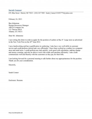 000 Stirring Resume Cover Letter Template Microsoft Word Picture 320