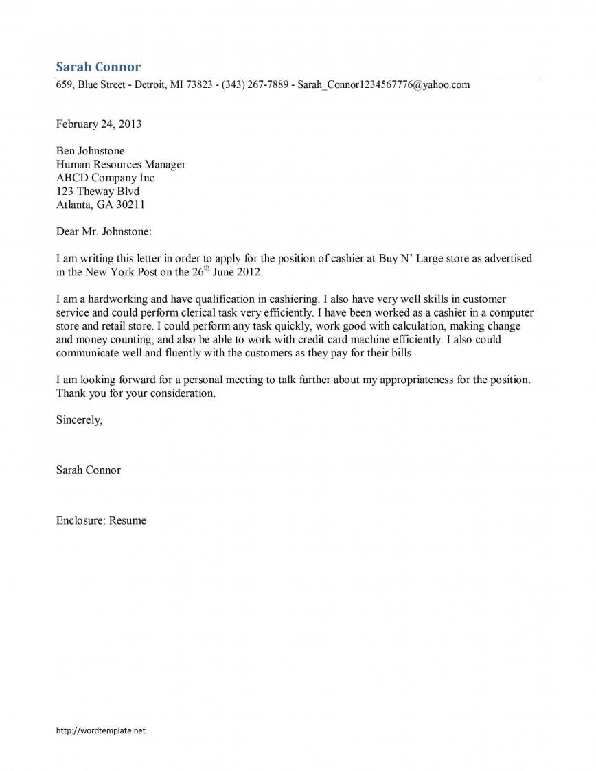 000 Stirring Resume Cover Letter Template Microsoft Word Picture 868