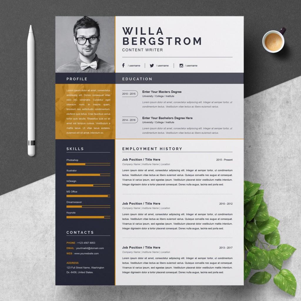 000 Stirring Resume Template Word 2016 Design  Cv ProfessionalLarge
