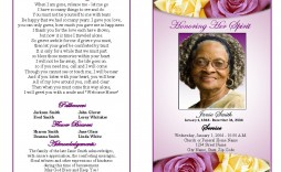 000 Stirring Simple Funeral Program Template Free Design  Download