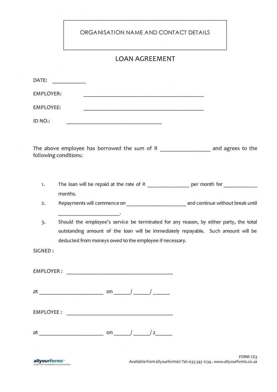 000 Stirring Simple Loan Agreement Template Word High Def  Format Personal MicrosoftLarge