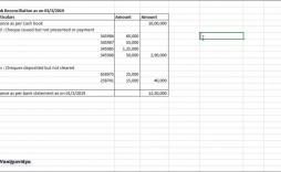 000 Striking Bank Reconciliation Statement Format Excel Sheet Picture  Download