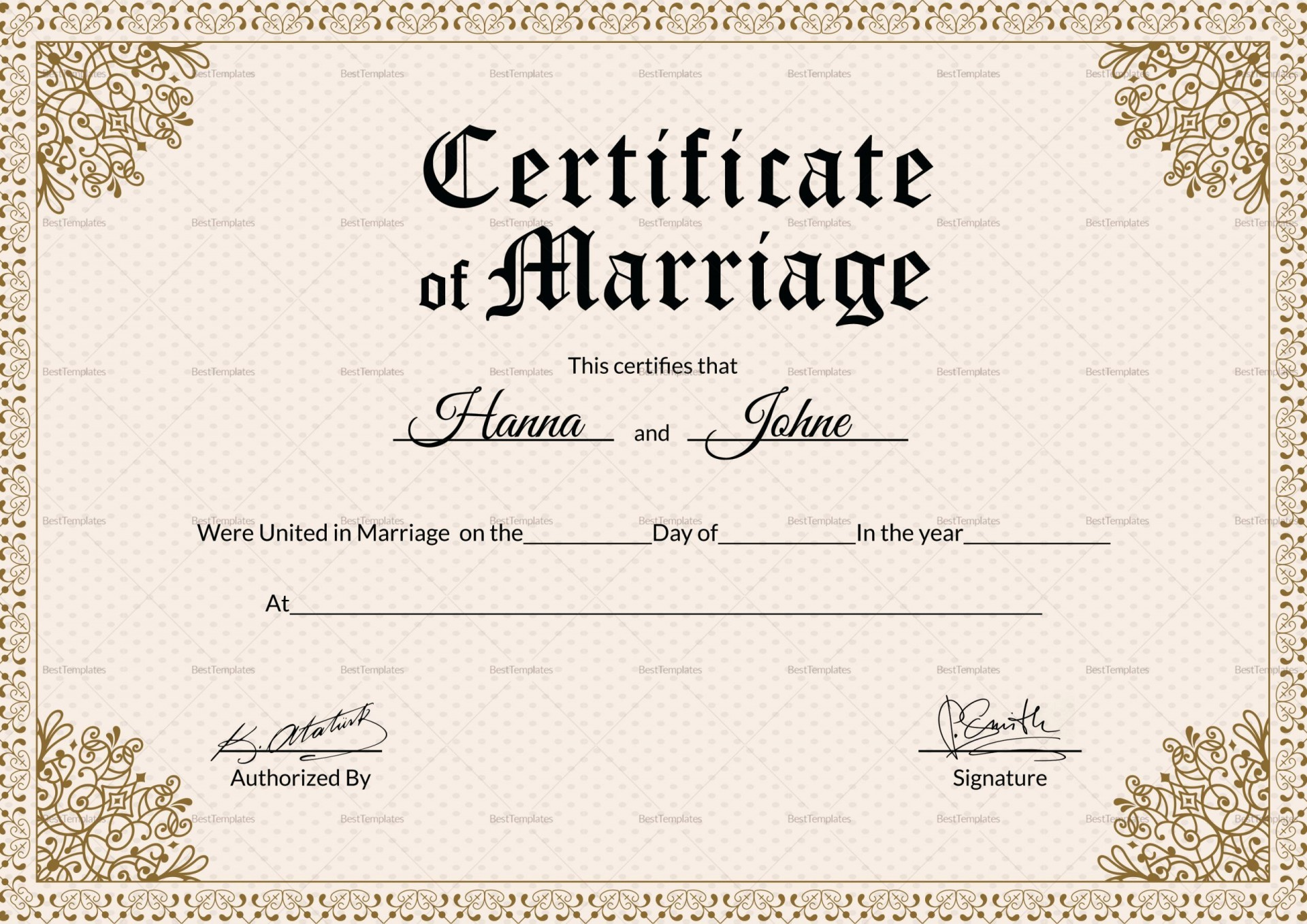000 Striking Certificate Of Marriage Template High Resolution  Word Australia1920