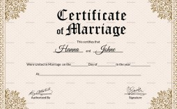 000 Striking Certificate Of Marriage Template High Resolution  Word Australia
