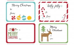 000 Striking Christma Label Template Free High Def  Present Gift Tag Editable Mailing