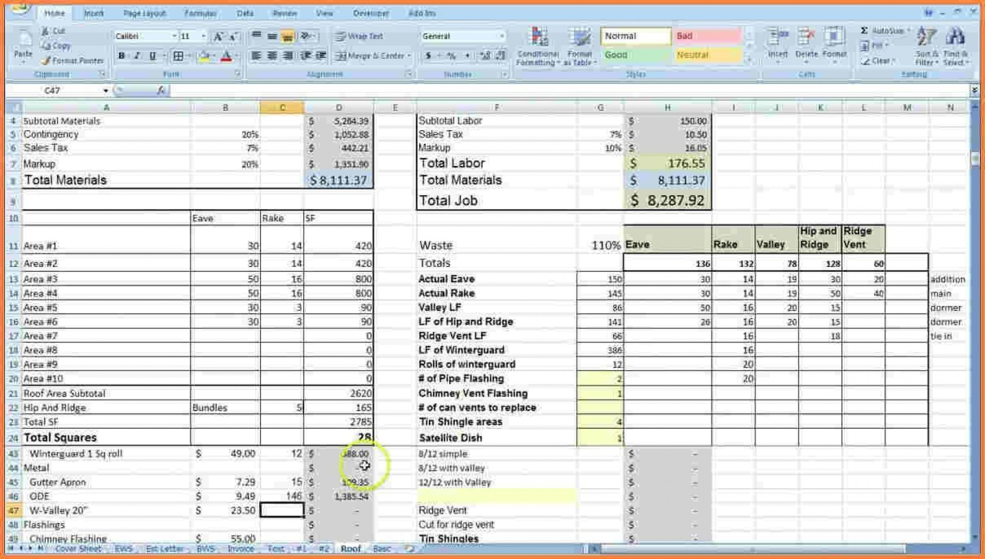 000 Striking Construction Cost Estimate Template Excel Idea  House Free In India Commercial1920