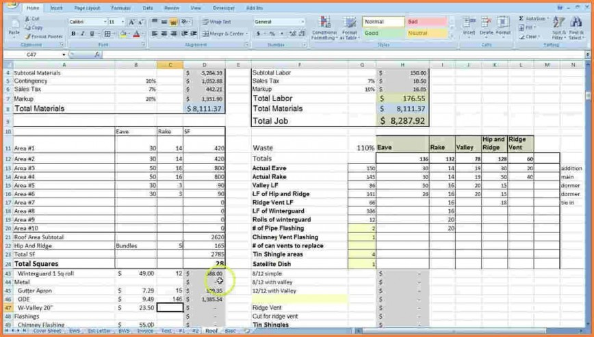 000 Striking Construction Cost Estimate Template Excel Idea  Uk Free Commercial Philippine