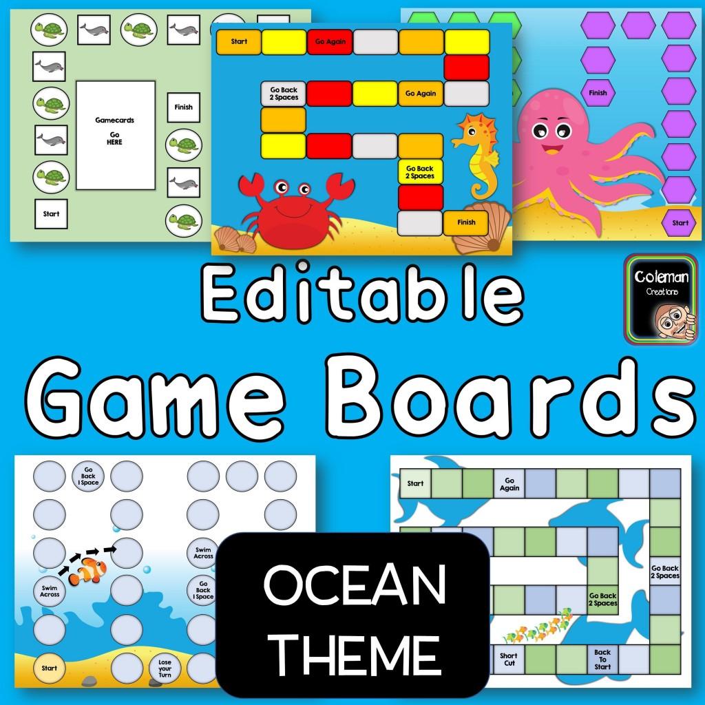 000 Striking Editable Board Game Template Inspiration  Word Blank FreeLarge
