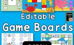 000 Striking Editable Board Game Template Inspiration  Word Blank Free