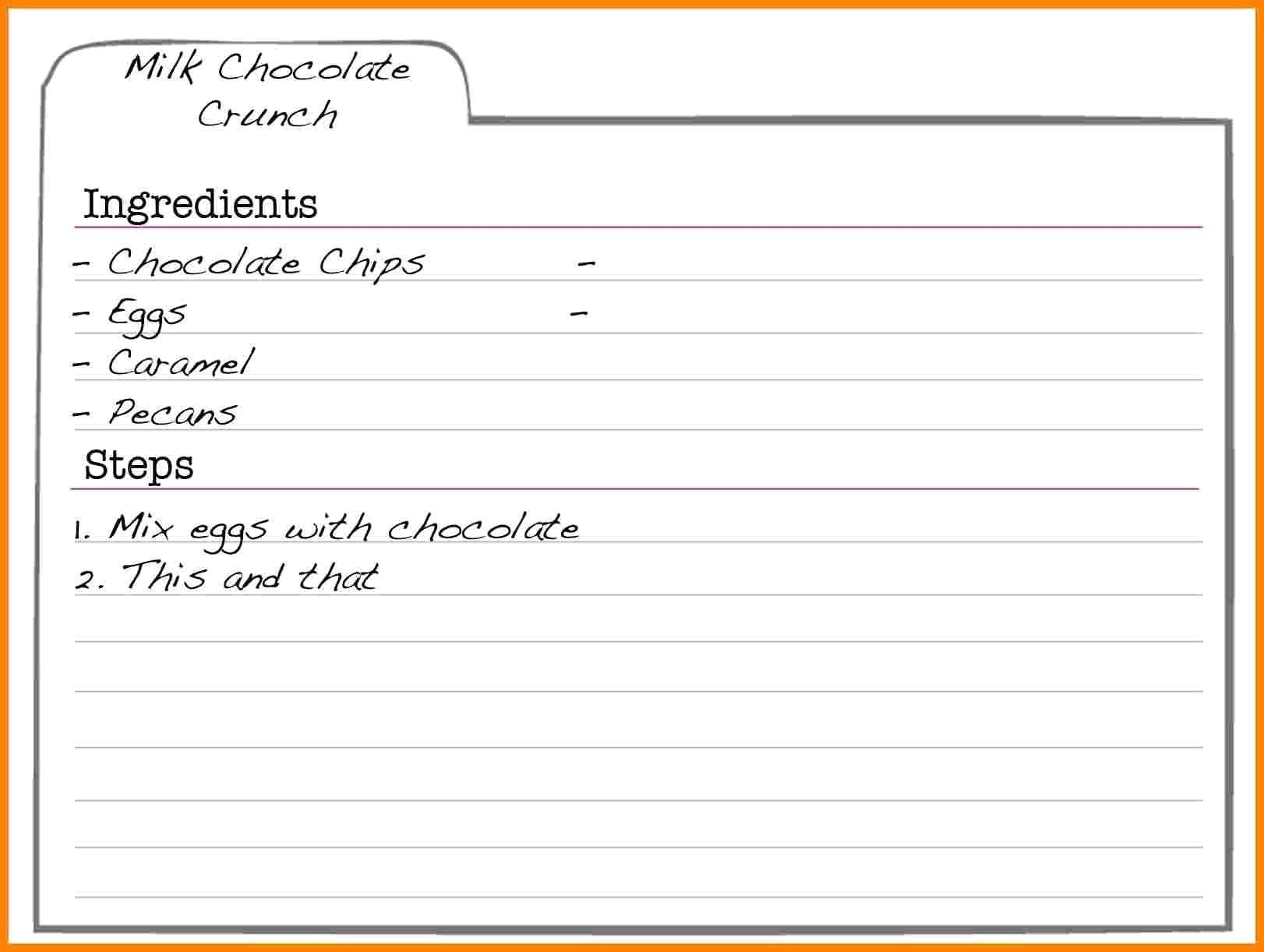000 Striking Fillable Recipe Card Template High Definition  For Word FreeFull