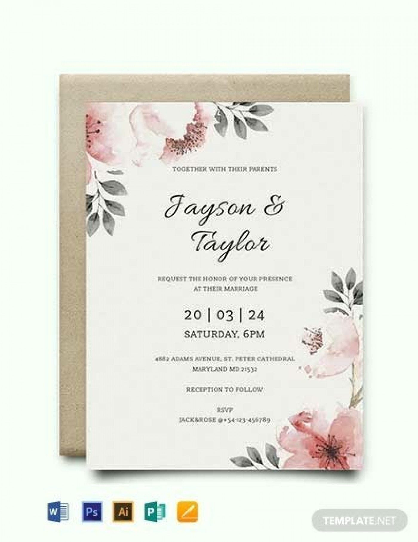 000 Striking Free Download Marriage Invitation Template Example  Card Design Psd After Effect1400
