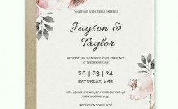000 Striking Free Download Marriage Invitation Template Example  Templates Design After Effect Card Psd