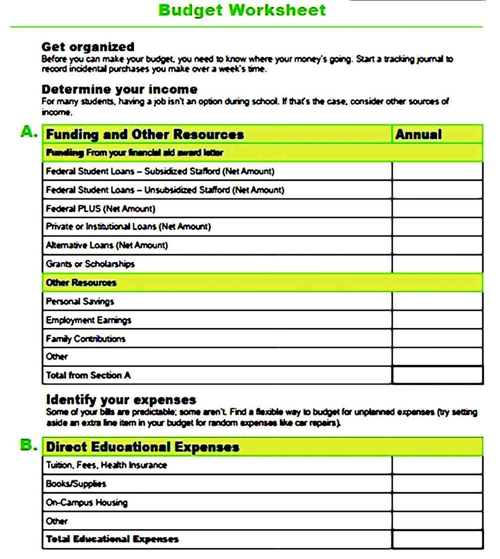000 Striking Free Line Item Budget Template High Resolution Full