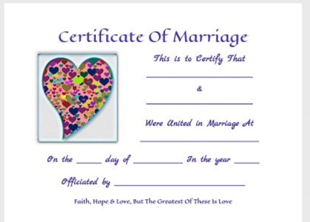 000 Striking Free Marriage Certificate Template Inspiration  Fillable Wedding Download RenewalLarge