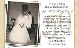 000 Striking Free Printable 50th Wedding Anniversary Invitation Template Example  Templates