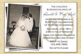 000 Striking Free Printable 50th Wedding Anniversary Invitation Template Example