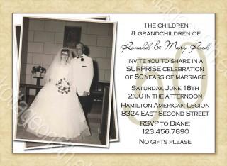 000 Striking Free Printable 50th Wedding Anniversary Invitation Template Example 320