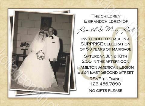 000 Striking Free Printable 50th Wedding Anniversary Invitation Template Example 480