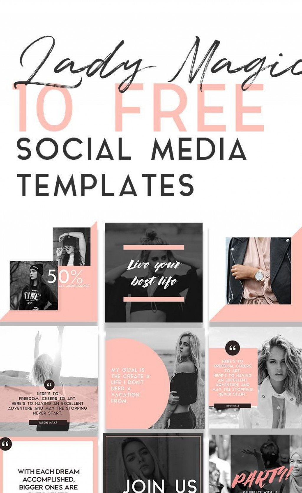 000 Striking Free Social Media Template Sample  Templates Website Design Post Download For PowerpointLarge
