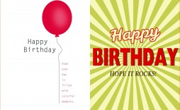 000 Striking Happy Birthday Card Template For Word Highest Quality