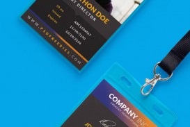 000 Striking Id Badge Template Photoshop Sample  Employee