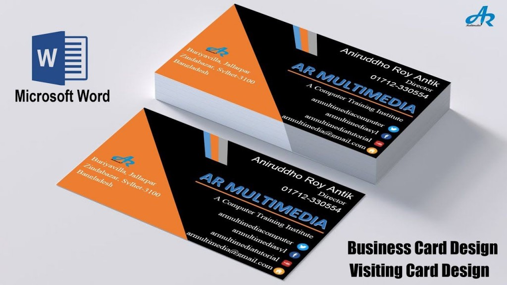 000 Striking M Excel Busines Card Template Design Large