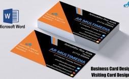 000 Striking M Excel Busines Card Template Design
