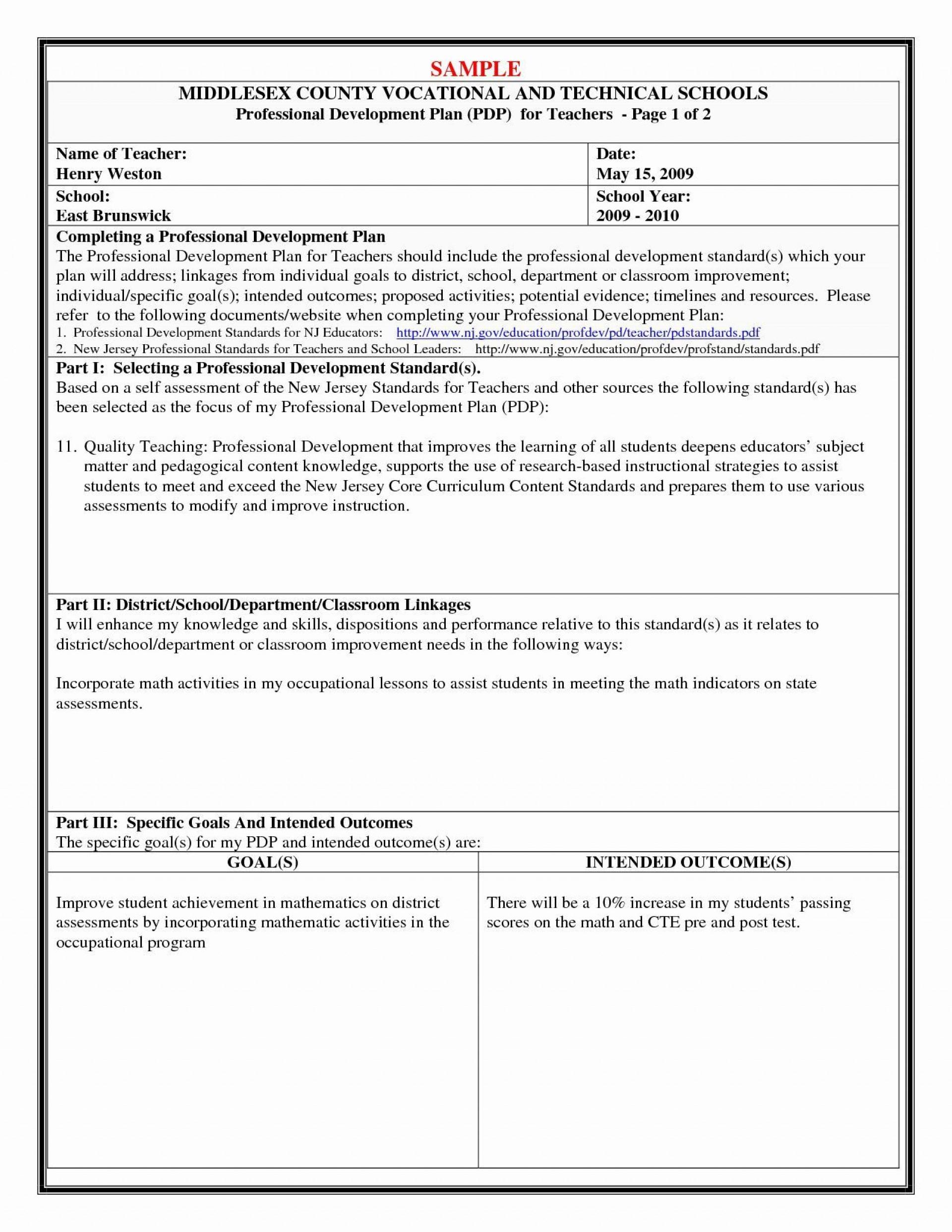 000 Striking Personal Development Plan Example Professional Doc High Definition 1920