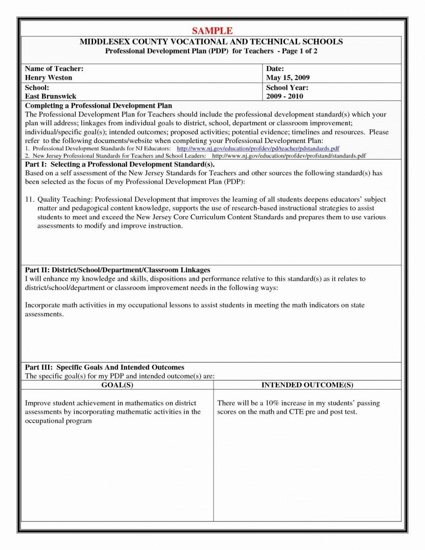 000 Striking Personal Development Plan Example Professional Doc High Definition