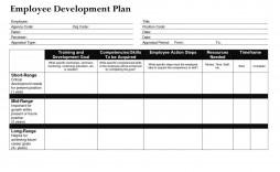 000 Striking Professional Development Plan Template Word Concept