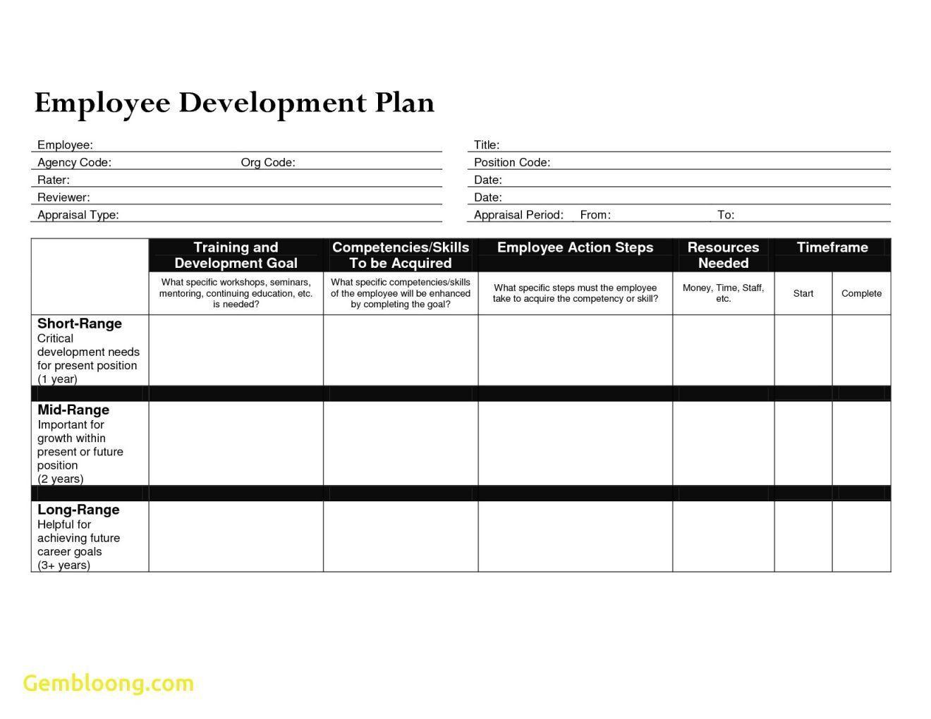 000 Striking Professional Development Plan Template Word Concept Full