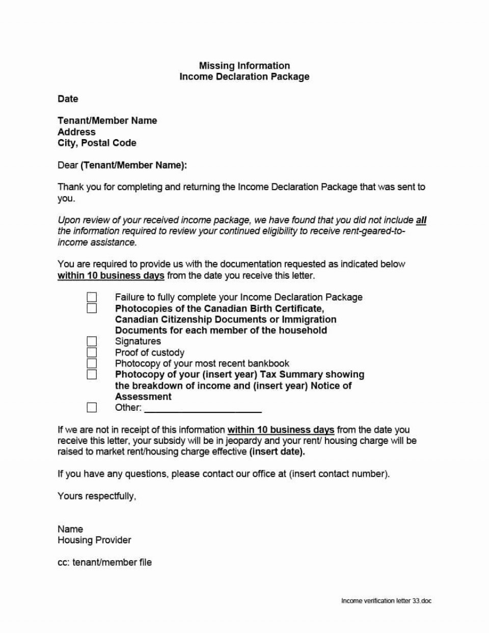 000 Striking Proof Of Employment Letter Template Canada Sample  Confirmation960