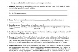 000 Striking Template For Property Rental Agreement Sample  Commercial