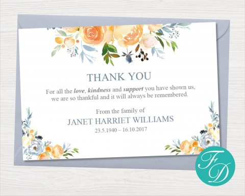 000 Striking Thank You Note Card Template Word Concept 480