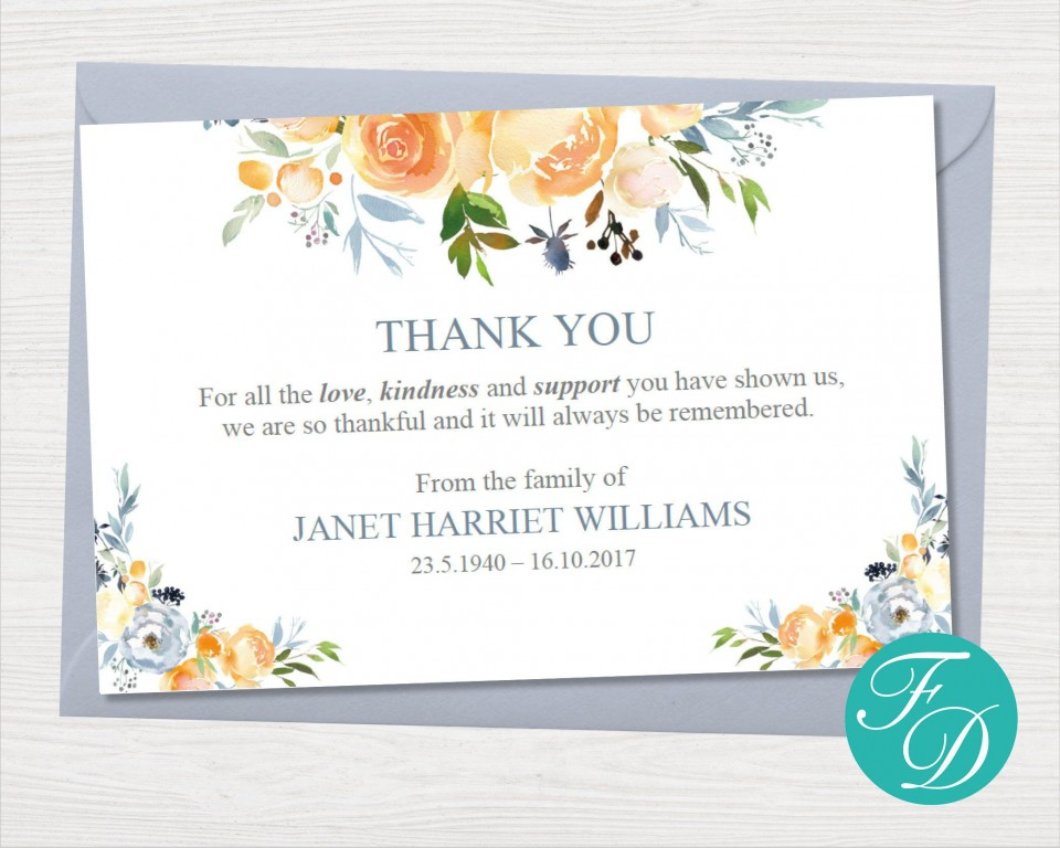 000 Striking Thank You Note Card Template Word Concept 960
