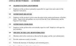 000 Stunning Blank Job Description Template Image  Word Free