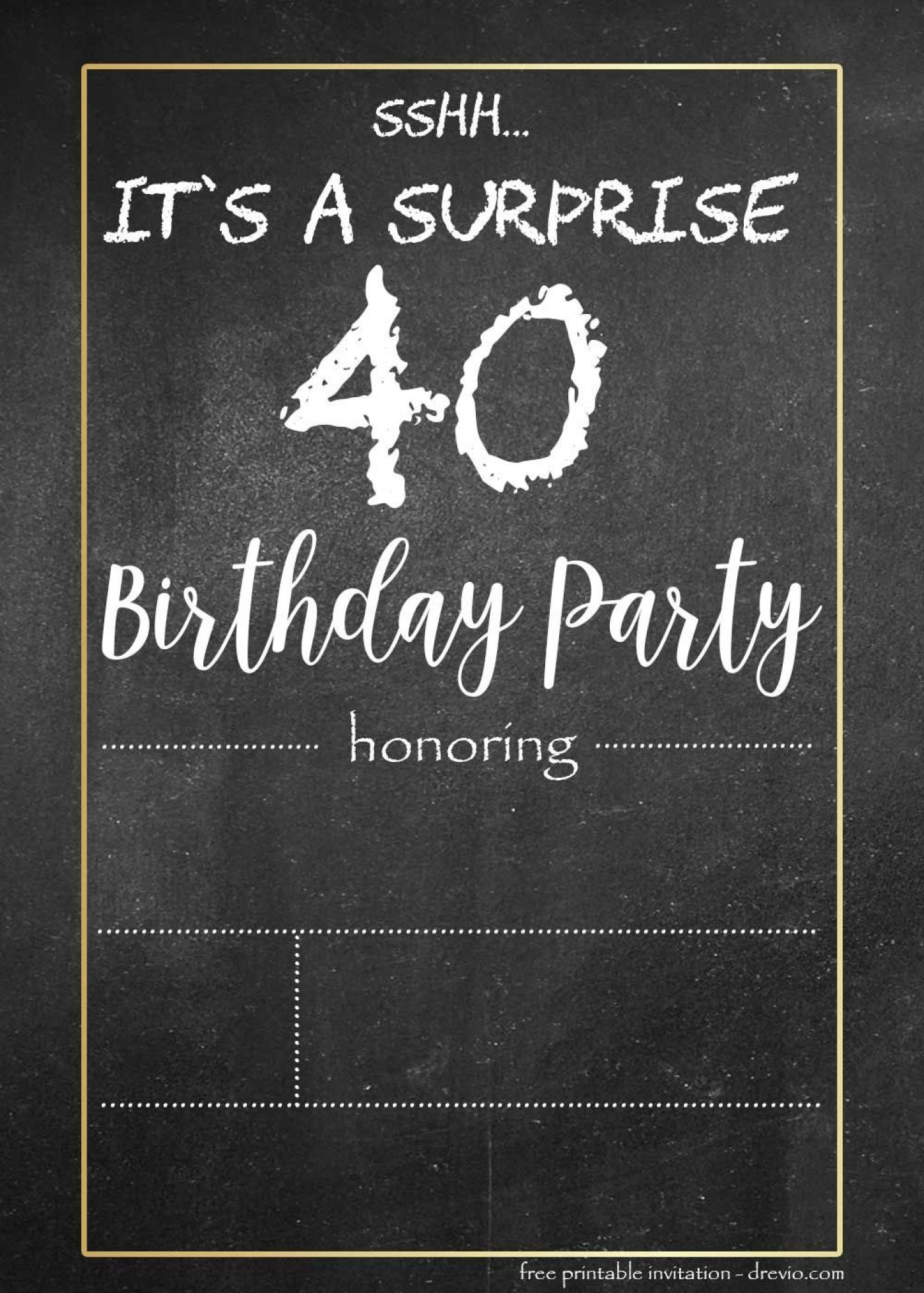 000 Stunning Chalkboard Invitation Template Free Example  Download Birthday1400