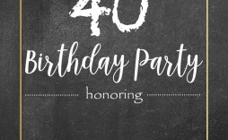 000 Stunning Chalkboard Invitation Template Free Example  Birthday Download