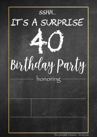 000 Stunning Chalkboard Invitation Template Free Example  Download Birthday320
