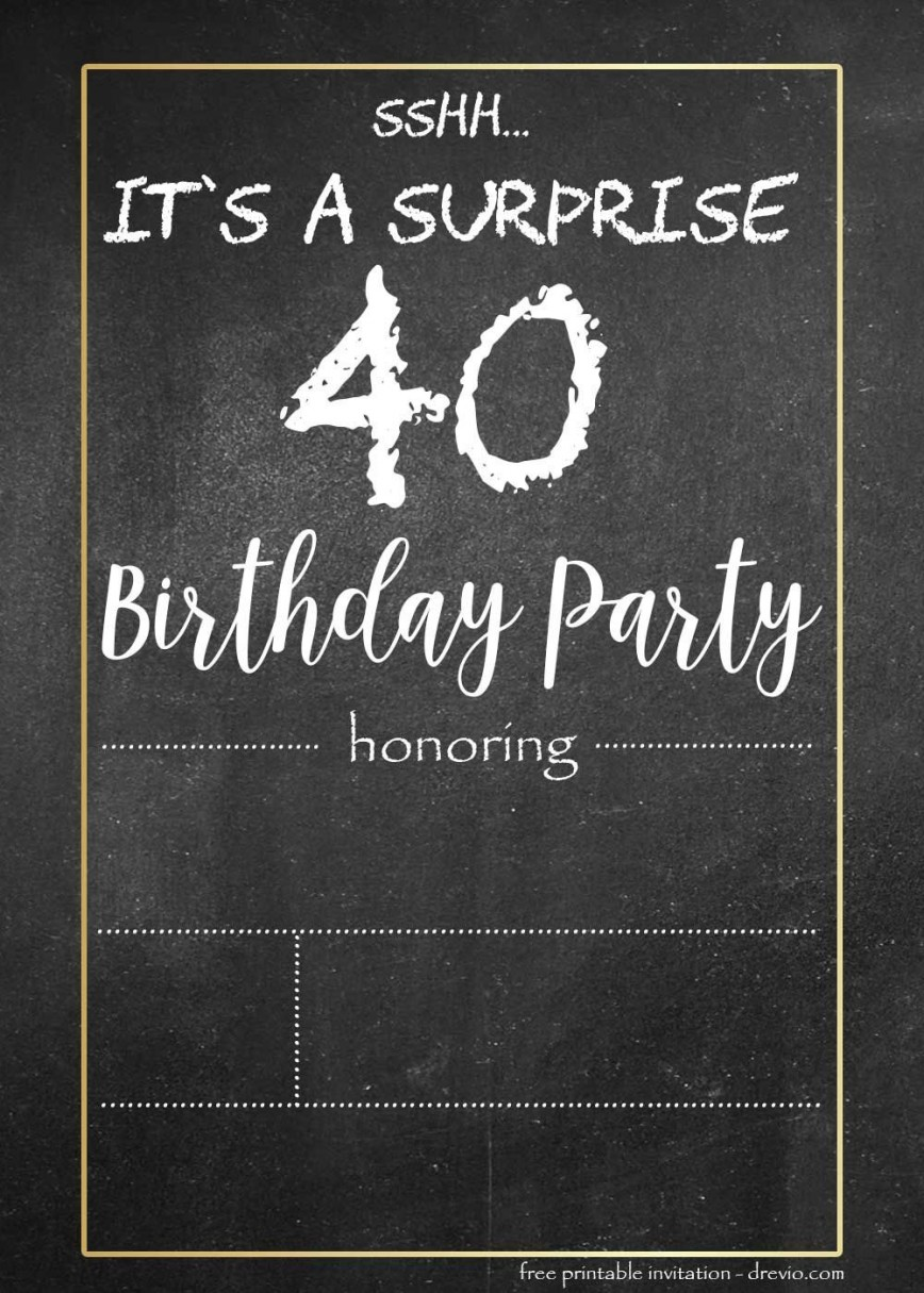 000 Stunning Chalkboard Invitation Template Free Example  Download Birthday868