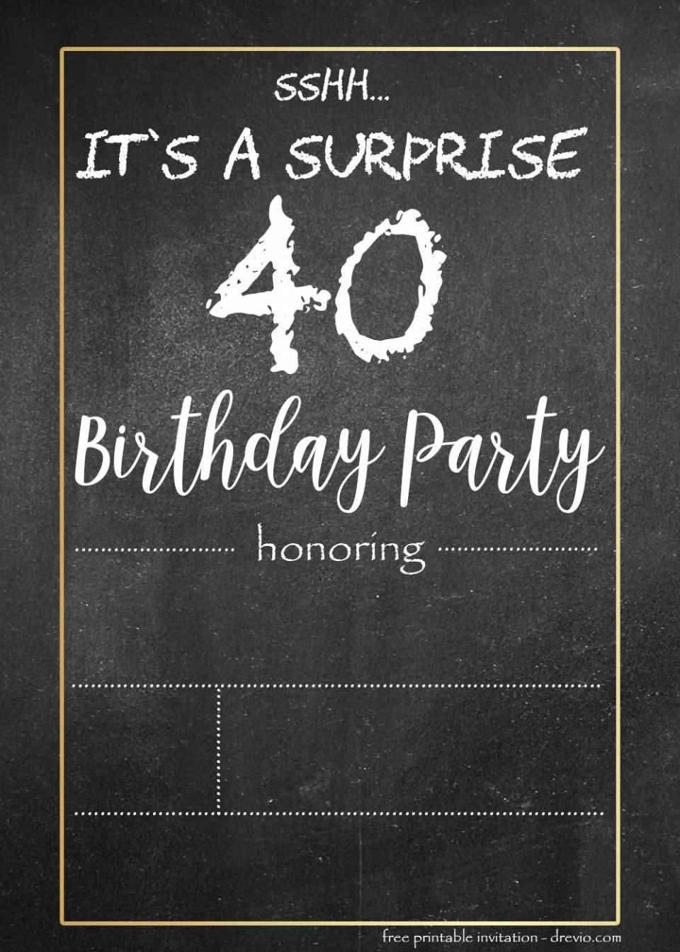 000 Stunning Chalkboard Invitation Template Free Example  Download Birthday960