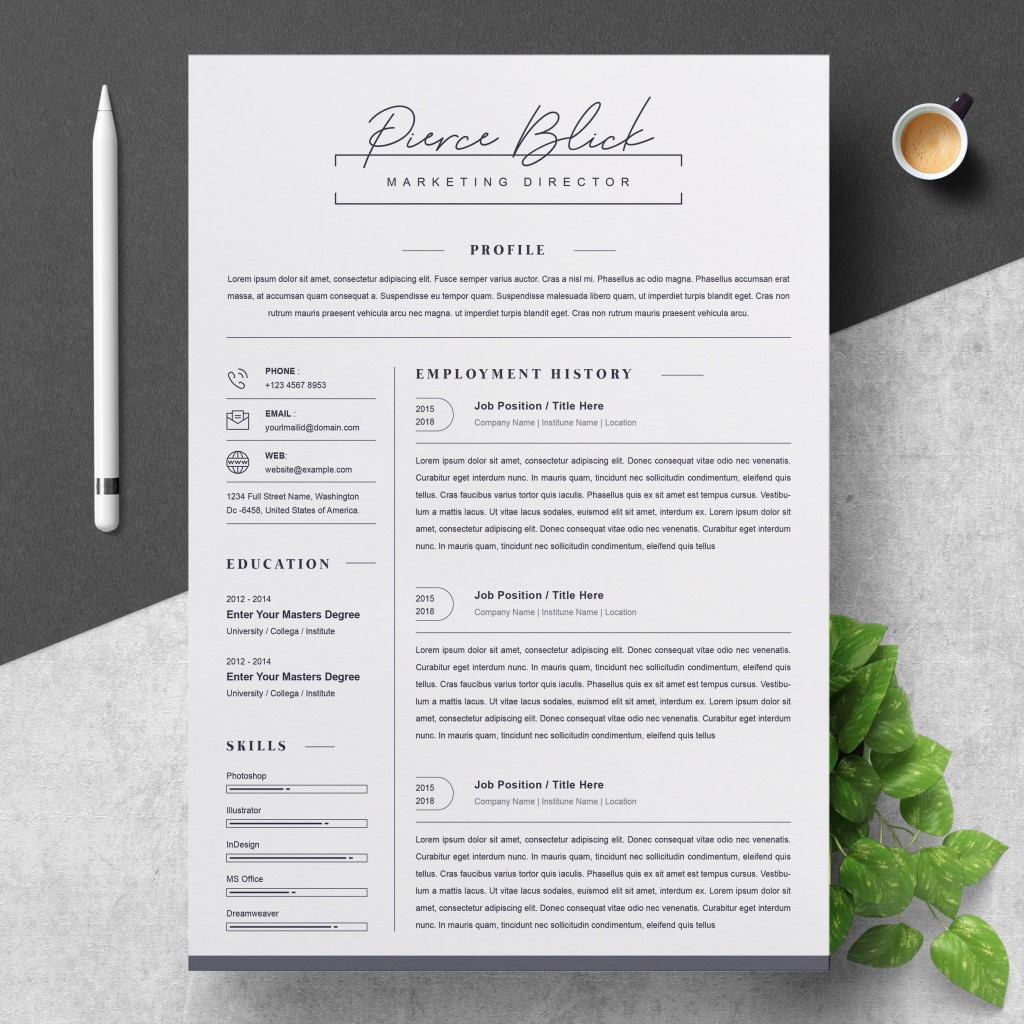 000 Stunning Curriculum Vitae Word Template Highest Clarity  Templates Download M 2019 Cv FreeLarge