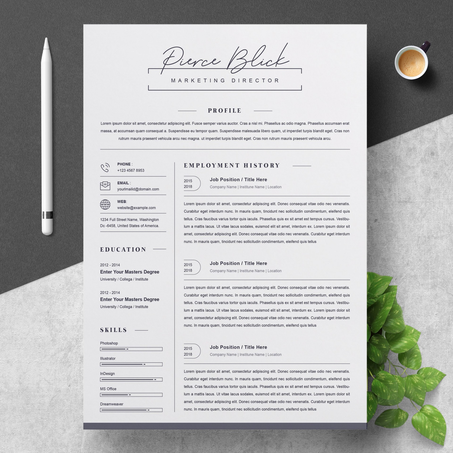 000 Stunning Curriculum Vitae Word Template Highest Clarity  Templates Download M 2019 Cv Free1920