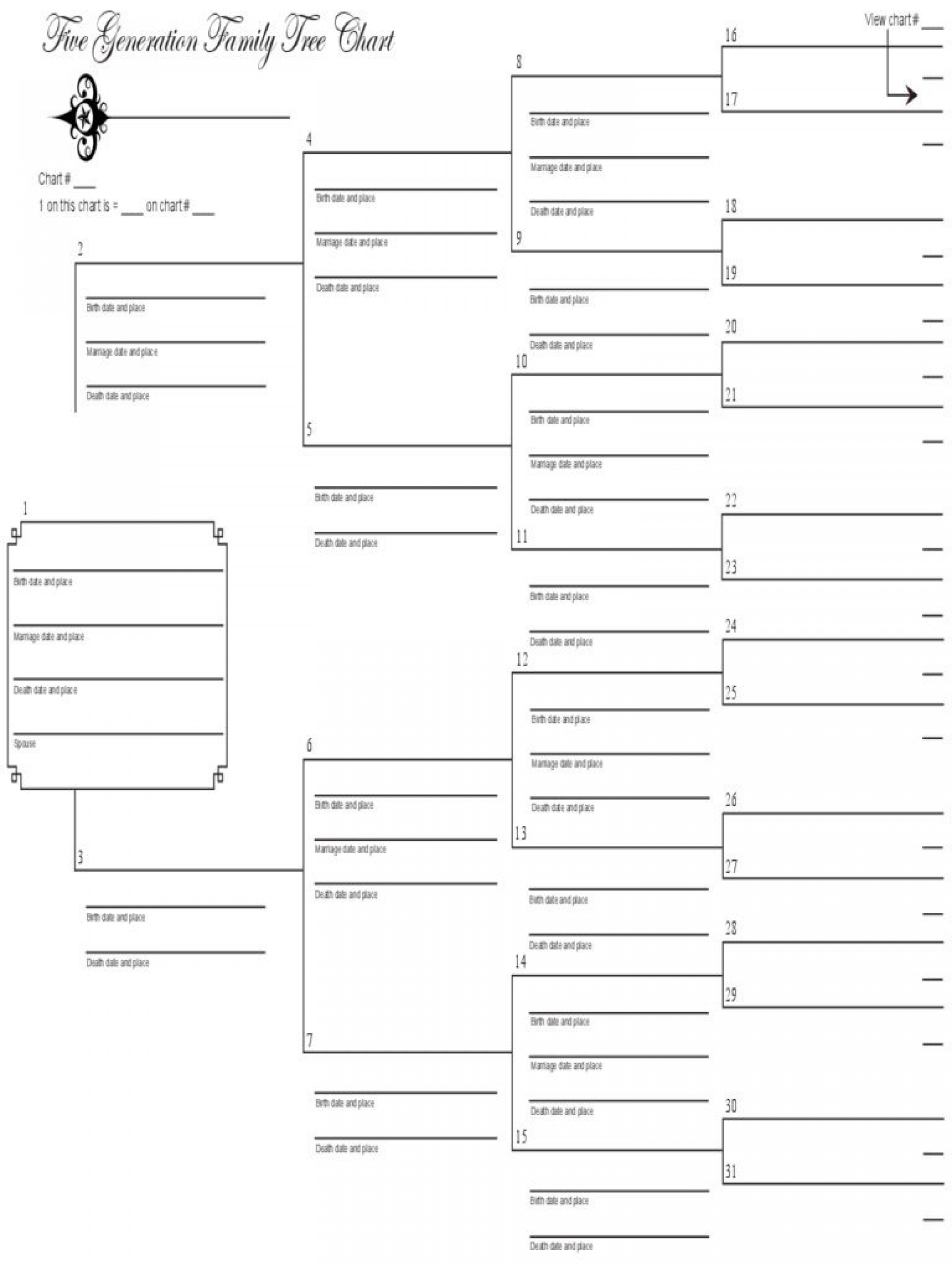000 Stunning Excel Family Tree Template Idea  7 Generation 41920