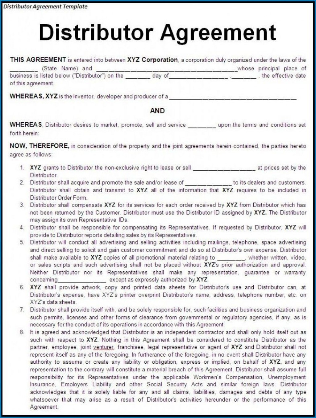 000 Stunning Exclusive Distribution Agreement Template Free Download High Definition Large