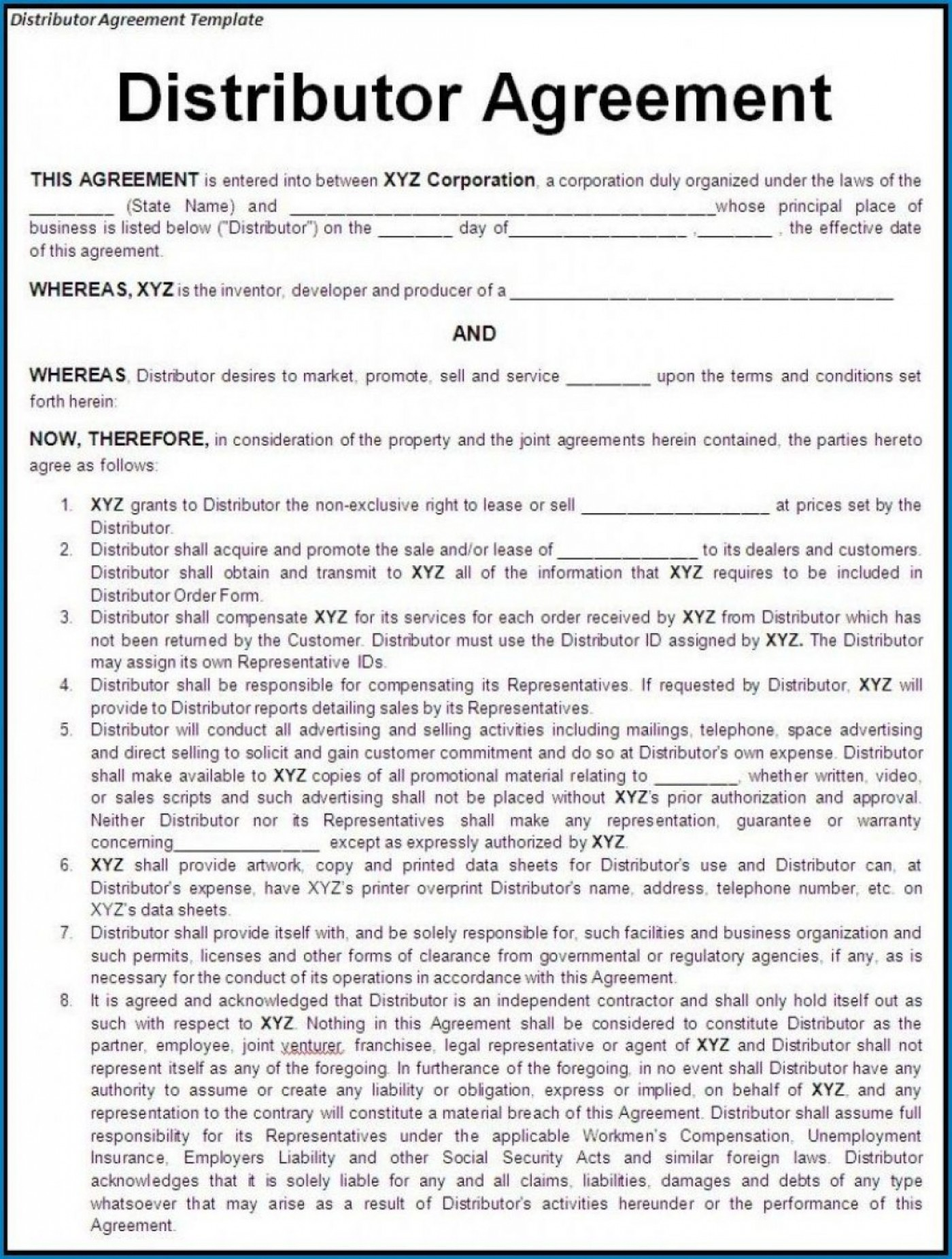 000 Stunning Exclusive Distribution Agreement Template Free Download High Definition 1400