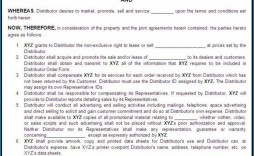 000 Stunning Exclusive Distribution Agreement Template Free Download High Definition