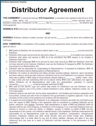 000 Stunning Exclusive Distribution Agreement Template Free Download High Definition 320